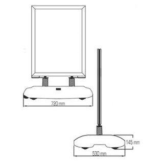 Grijs stoepbord 59.4 x 84 cm papierformaat A1 restyle