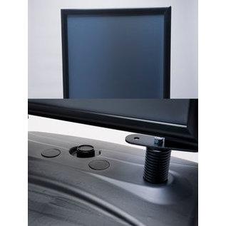 Zwart stoepbord restyle  zwarte uitvoering
