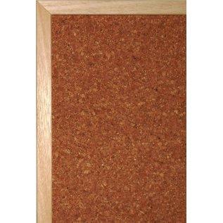 Kurk prikbord met houten lijst formaat 45x60 cm.