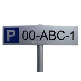 Los parkeerbord met kenteken vervanging