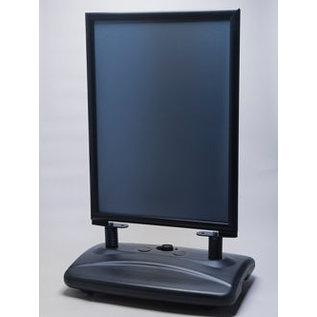 Restyle Zwart stoepbord voor posters  geheel zwarte uitvoering