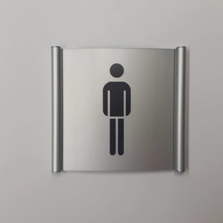 Toiletbord dames en heren wandmodel