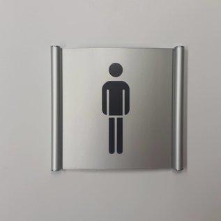 Herentoilet bordje aan de wand of deur