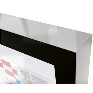 Vitrine Edge 74x80cm en 5.4 cm dun voor 8xA4 printjes