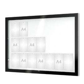 Vitrine Edge 160x112 cm 8 cm dik met zwart kader