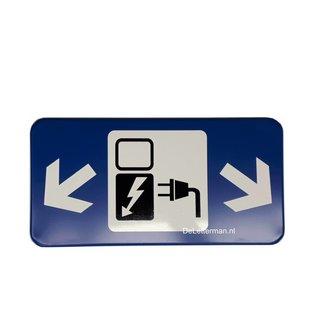 Oplaadstation, Opladen electrische auto bord voor op paal