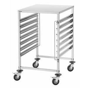 Bartscher Wózek do transportu pojemników i tac | 7x GN2/1 lub 14x GN1/1 | 655x740x(H)1010mm