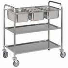 Diamond Wózek kelnerski 3-poziomowy ze stali nierdzewnej | 3xGN1/1 | 1120x620x(H)1120mm