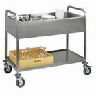 Diamond Wózek kelnerski 2-poziomowy do pojemników GN | 1170x630x(H)940mm