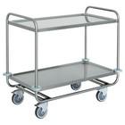Diamond Wózek kelnerski 2-półkowy ze stali nierdzewnej | 1090x590x(H)950mm