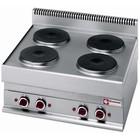Diamond Kuchnia elektryczna nastolna | 4 okrągłe palniki | 10400W | 700x650x(H)280/380mm