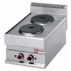 Diamond Kuchnia elektryczna nastolna | 2 okrągłe palniki | 5200W | 400x650x(H)280/380mm