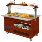 Diamond Bain-marie heating | buffet | 4x GN 01.01 (H) 150 mm | mahogany | + 20 ° + 90 ° | 3500W | 1440x660 (960) x (H) 1405mm