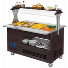 Diamond Bain-marie heating | buffet | 4x GN 01.01 (H) 150 mm | wenge wood | + 20 ° + 90 ° | 3500W | 1440x660 (960) x (H) 1405mm