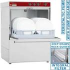 Diamond Dishwasher basket 500x500mm | drain pump | 5400W | 580x600x (H) 820mm