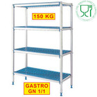 Diamond Schappen geanodiseerd aluminium | 4-shelf | 715x555x (H) 1750mm