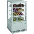 Saro Witryna chłodnicza mini wentylowana | 70L | biała | +2/+10 °C | 170W | 230V | 430x380x(H)880mm