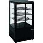 Saro Refrigerated mini display cabinet 70L | black + 2 / + 10 ° C | 170W | 230V | 430x380x (H) 880mm