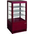 Saro Witryna chłodnicza mini wentylowana | 70L | czerwona | +2/+10 °C | 170W | 230V | 430x380x(H)880mm