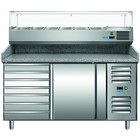 Saro Stół do pizzy PZ 1610 TN | +2/+8 °C | 221L | 230W | 230V | 1515x800x(H)1030-1090mm