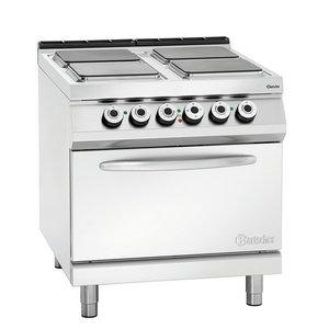 Bartscher Kuchnia elektryczna 4 płytowa z piekarnikiem el. GN 2/1 | 21600W