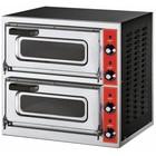 GGF Piec do pizzy 2-komorowy 4400W | 2x Ø 40cm | 230V