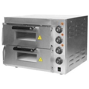 CaterChef Piec do pizzy   2-komorowy   2500W   230V   560x560x(H)440mm