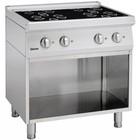 Bartscher 4-pits keramische keuken met base geopend 700 Series