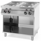 Hendi Kuchnia elektryczna 4-płytowa Kitchen Line na podstawie otwartej | 800x700x(H)900 mm | 10,4 kW