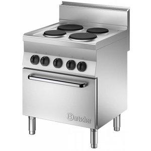 Bartscher Kuchnia elektryczna 4 płytowa z piekarnikiem el. GN 1/1 | 12400W