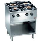 Diamond Kuchnia gazowa 4-palnikowa z otwartą podstawą | 2x 3,5 + 2x 6kW | 700x700x(H)850mm