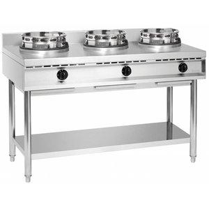 Bartscher Kuchnia wok gazowa 3 palnikowa | 34500W