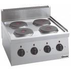 Bartscher Kuchnia elektryczna nastawna 4 płytowa | 8000W