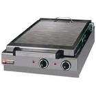 Diamond Płyta grillowa elektryczna ryflowana nastawna | 410x340mm | 5000W