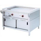 Diamond Teppanyaki grill electric 2-zone with cabinet | 2x 3.5 kW | 1200x770x (H) 850mm