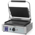 Hendi Grill kontaktowy żeliwny pojedyńczy ryflowany/gładki | 340x230mm | 2200W