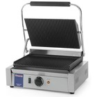 Hendi Contact panini grill | grooved | 202kW | 340x230mm