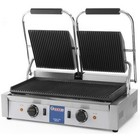 Hendi Double contact grill | grooved | 3.6kW | 475x230mm