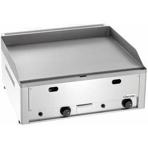 Bartscher Płyta grillowa gazowa gładka nastawna | 650x480mm | 8000W