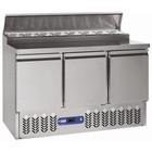 Diamond Cooling table | 3 pairs of doors + cooled construction | + 2 ° + 8 ° / + 4 ° + 10 ° | 340W | 1365x700x (H) 870 / 1250mm