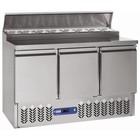Diamond Stół chłodniczy | 3 pary drzwi | GN 1/1 | 340L |nadstawa chłodnicza | +2°+ 8°/+4°+10° | 340 W | 1365x700x(H)870/1250mm