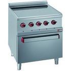 Diamond Elektrische keuken witoceramiczna 4-zone elektrische oven met GN2 / 1 | 13,7kW | 700x700x (H) 850 / 920mm