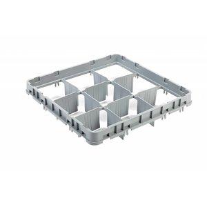 AmerBox Nadstawa do kosza 9 elementów | 500x500x(H)75mm