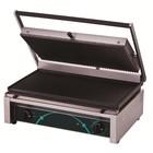 Resto Quality Grill elektryczny kontaktowy | ryflowany | 520x280mm | 2500W | 545x410x(H)205mm