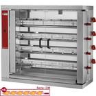 Diamond Opiekacz gazowy do kurczaków 4x 6 | 0,11 kW | 1098x480x(H)1000mm