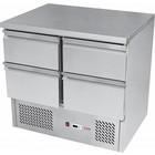 RedFox Stół chłodniczy czteroszufladowy | +2°C/+8°C | 240W | 900x700x(H)850mm
