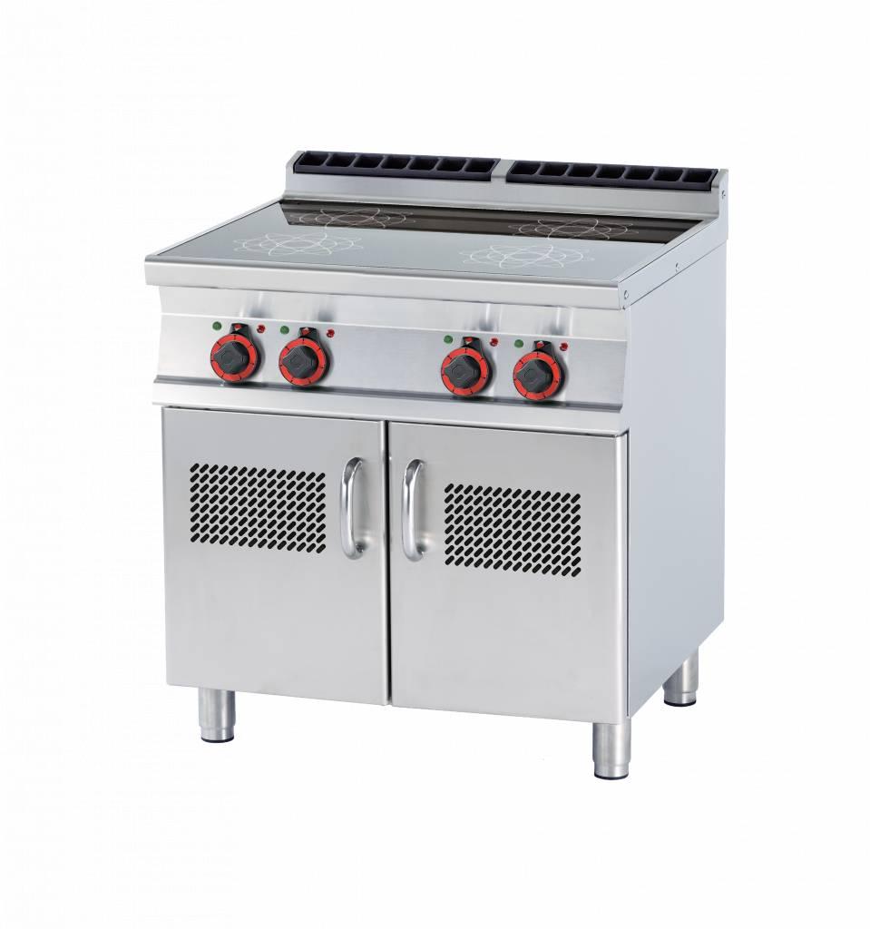 Rm Gastro Kuchnia Elektyczna Indukcyjna Z Szafką 750x570mm 20000w 800x700xh900mm