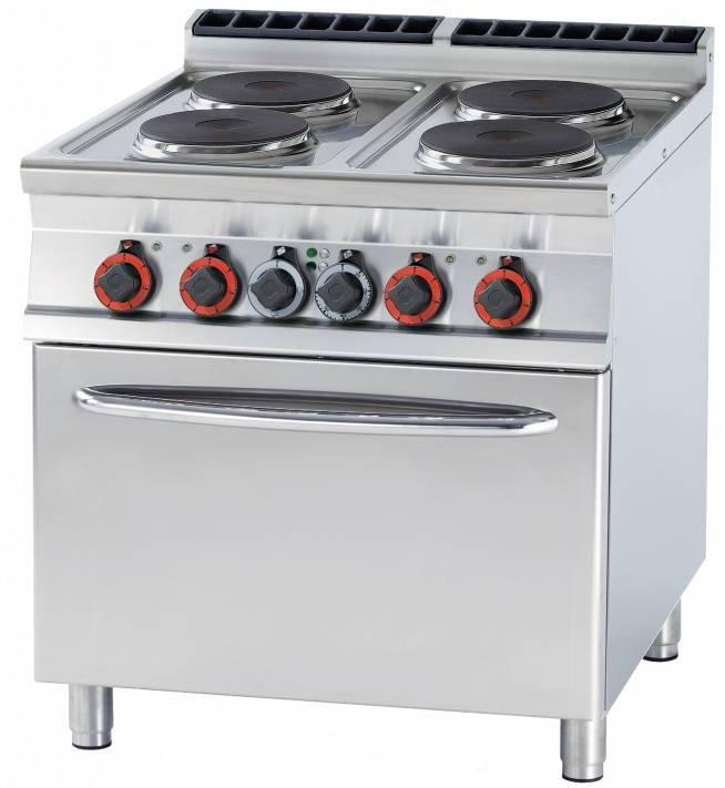 Rm Gastro Kuchnia Elektryczna Z Piekarnikiem 315mm 4x3500w 20700w 800x900xh900mm