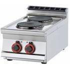 RM GASTRO Kuchnia elektryczna | śr. 200mm | 2x2600W | 400x700x(H)280mm