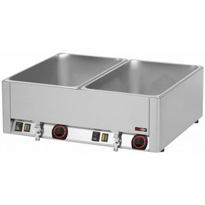 RedFox Bemar podwójny z kranem   GN 1/1-150mm   3000W   660x540x(H)220mm